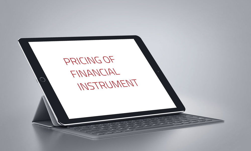 Pricing of financial instruments